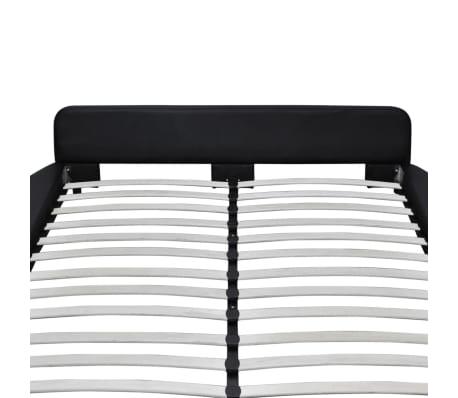 vidaXL Cadre de lit rond 180 x 200 cm Cuir artificiel noir[5/7]