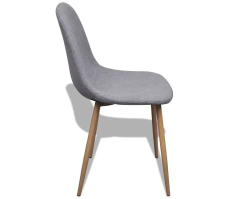 vidaXL Dining Chairs 2 pcs Fabric Light Gray[4/6]