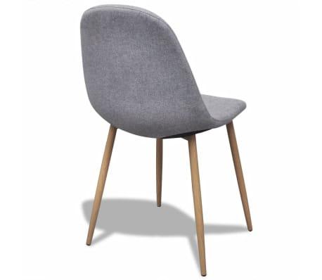vidaXL Dining Chairs 2 pcs Fabric Light Gray[5/6]