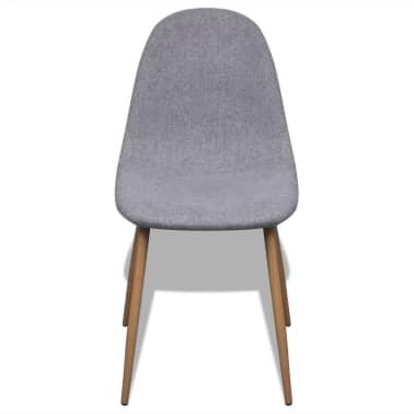 vidaXL Dining Chairs 2 pcs Fabric Light Gray[3/6]