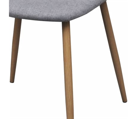 vidaXL Dining Chairs 4 pcs Fabric Light Gray[6/6]