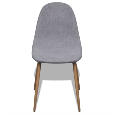 vidaXL Dining Chairs 4 pcs Fabric Light Gray[3/6]