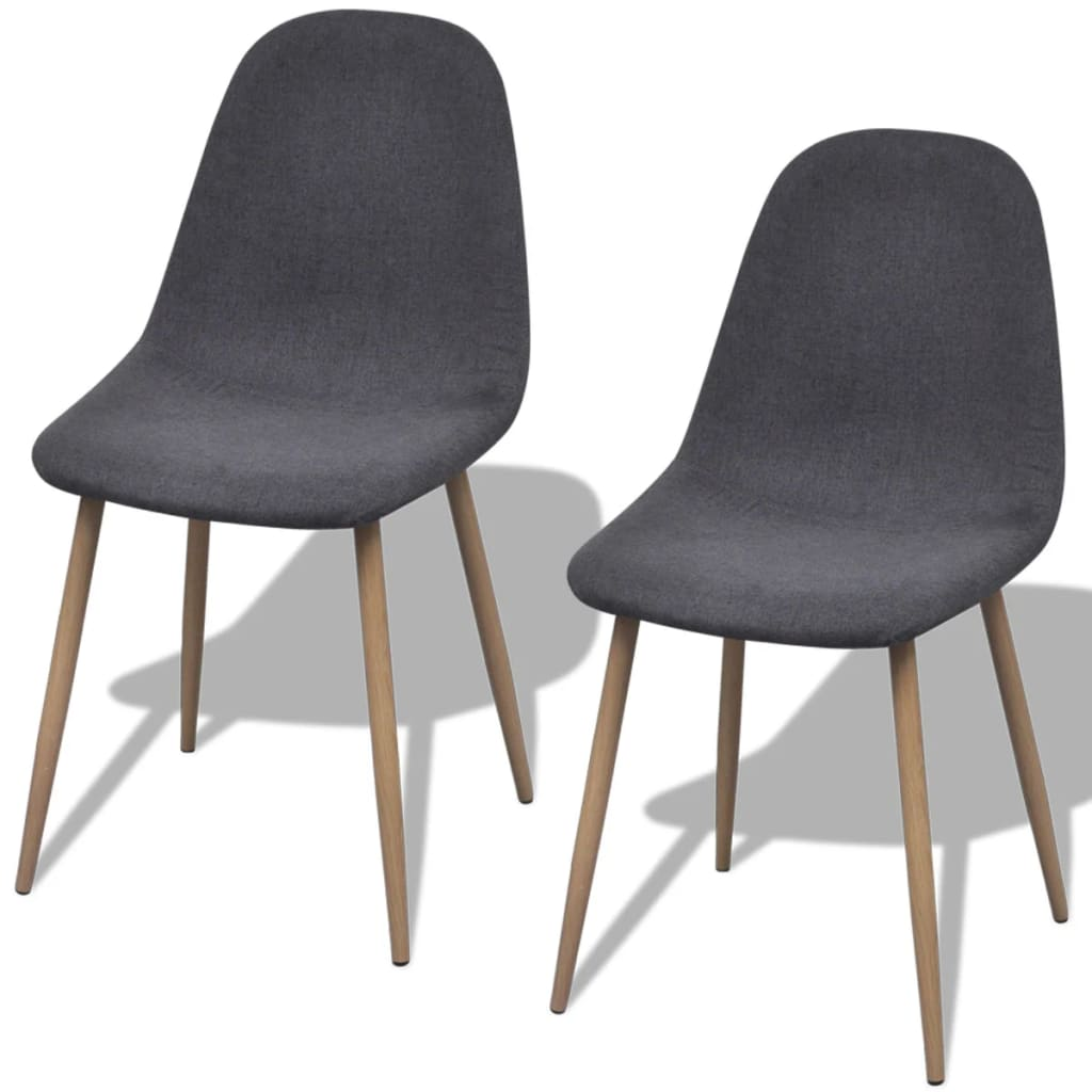 Phenomenal 2X Dining Chairs Dark Gray Fabric Kitchen Dining Living Room Gmtry Best Dining Table And Chair Ideas Images Gmtryco