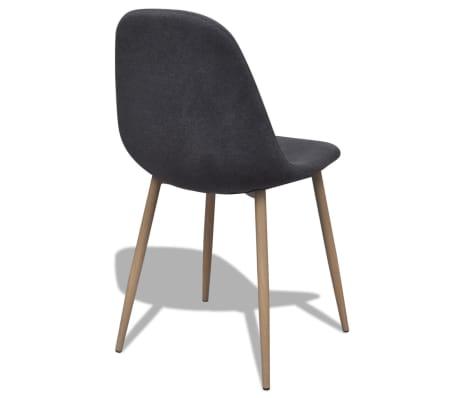 vidaXL Dining Chairs 2 pcs Fabric Dark Gray[5/6]