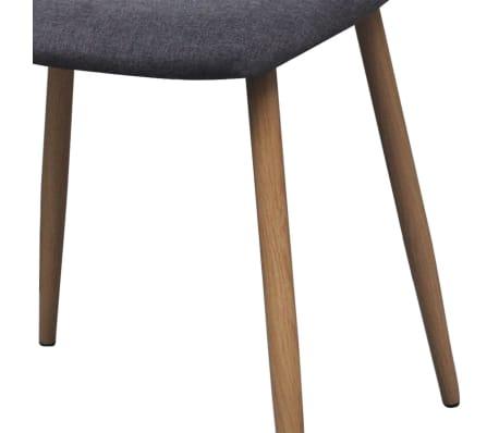 vidaXL Dining Chairs 2 pcs Fabric Dark Gray[6/6]