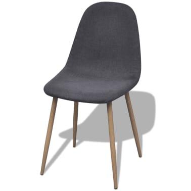 vidaXL Dining Chairs 2 pcs Fabric Dark Gray[2/6]