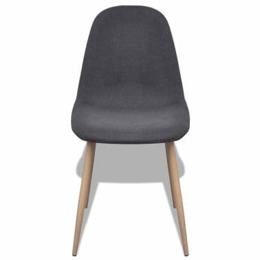 vidaXL Dining Chairs 2 pcs Fabric Dark Gray[3/6]