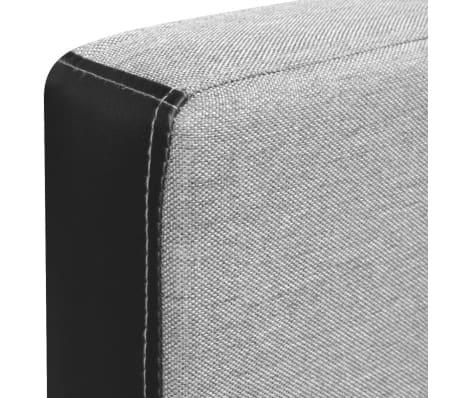 vidaXL Rozkladacia rohová látková pohovka, 218x155x69 cm, čierno-šedá[7/8]