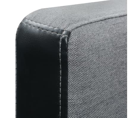 vidaXL L-shaped Sofa Bed Fabric Black and Gray[7/7]