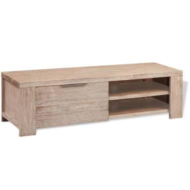 "vidaXL TV Cabinet Solid Brushed Acacia Wood 55""x15""x15.7""[2/9]"