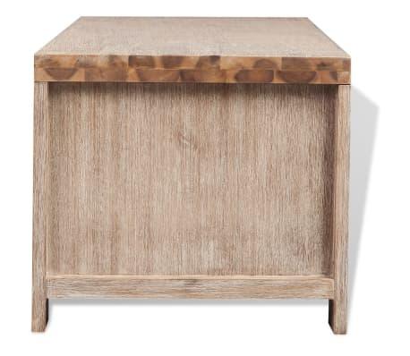 "vidaXL TV Cabinet Solid Brushed Acacia Wood 55""x15""x15.7""[5/9]"