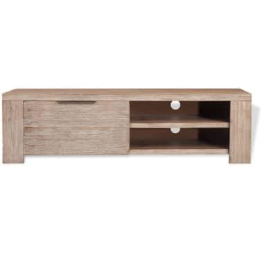 "vidaXL TV Cabinet Solid Brushed Acacia Wood 55""x15""x15.7""[3/9]"