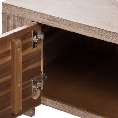 "vidaXL TV Cabinet Solid Brushed Acacia Wood 55""x15""x15.7""[6/9]"