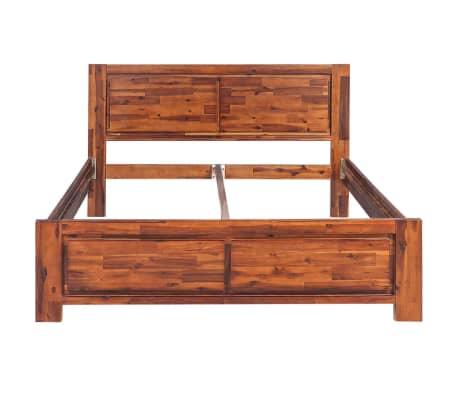 acheter vidaxl cadre de lit bois d 39 acacia massif marron 180 x 200 cm pas cher. Black Bedroom Furniture Sets. Home Design Ideas