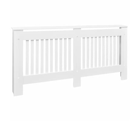vidaXL Radiator Cover White MDF 67.7""