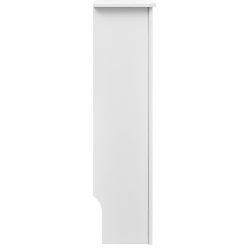 vidaXL Cache-radiateur Blanc MDF Salon Couverture Armoire Murale Placard 3