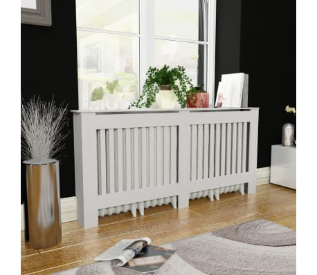 "vidaXL Radiator Cover White MDF 67.7""[1/4]"