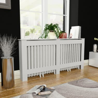 vidaXL Radiator Cover White MDF 172 cm[1/4]