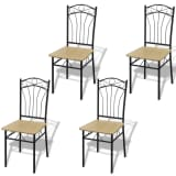 vidaXL Dining Chairs 4 pcs Light Brown
