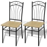 vidaXL Dining Chairs 2 pcs Light Brown