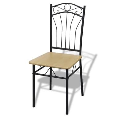 vidaXL Seven Piece Dining Table and Chair Set Light Brown[4/4]