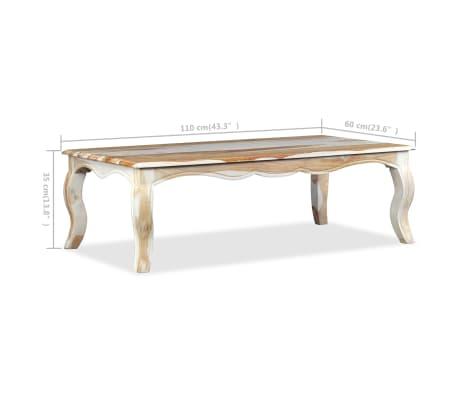 Acheter Vidaxl Table Basse Bois Massif De Sesham 110 X 60 X 35 Cm