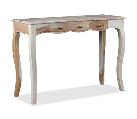 vidaXL Table console et 3 tiroirs Bois de Sesham massif 110x40x76 cm[1/10]