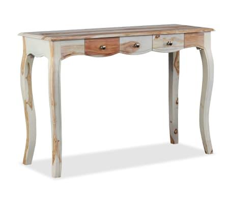 vidaxl konsolentisch mit 3 schubladen sheesham massivholz 110x40x76 cm zum schn ppchenpreis. Black Bedroom Furniture Sets. Home Design Ideas