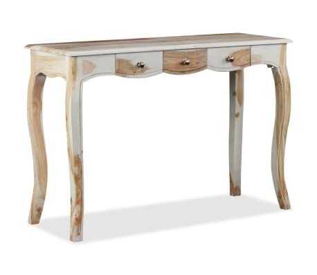 vidaXL Table console et 3 tiroirs Bois de Sesham massif 110x40x76 cm[5/10]