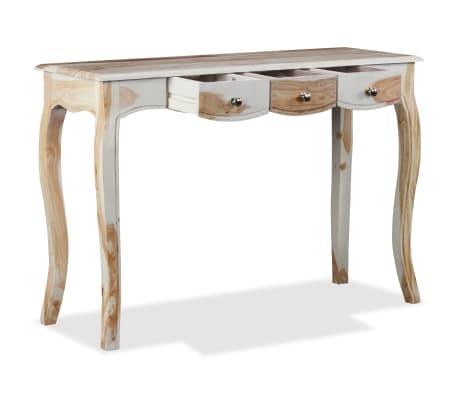 vidaXL Table console et 3 tiroirs Bois de Sesham massif 110x40x76 cm[6/10]