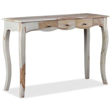 vidaXL Table console et 3 tiroirs Bois de Sesham massif 110x40x76 cm[2/10]