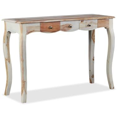 vidaXL Table console et 3 tiroirs Bois de Sesham massif 110x40x76 cm[3/10]