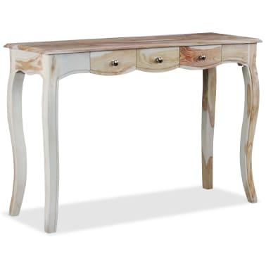vidaXL Table console et 3 tiroirs Bois de Sesham massif 110x40x76 cm[4/10]