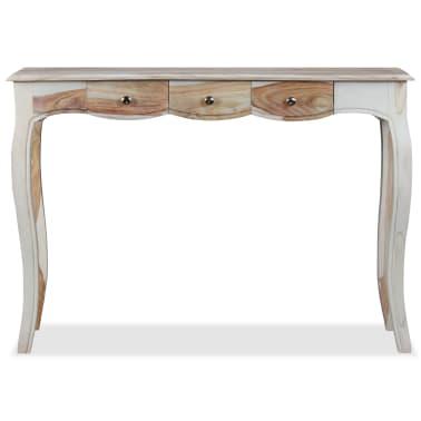 vidaXL Table console et 3 tiroirs Bois de Sesham massif 110x40x76 cm[7/10]