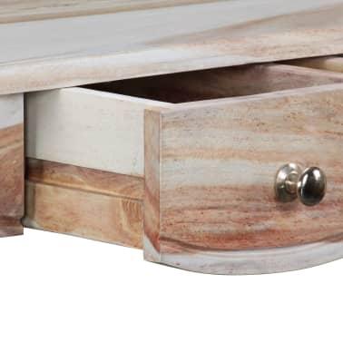 vidaXL Table console et 3 tiroirs Bois de Sesham massif 110x40x76 cm[9/10]