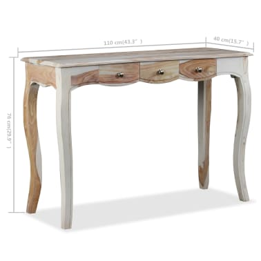 vidaXL Table console et 3 tiroirs Bois de Sesham massif 110x40x76 cm[10/10]
