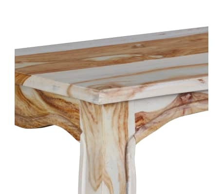 vidaXL Konsolinis staliuk., rausv. dalbergijos med., 110x40x76cm[8/9]