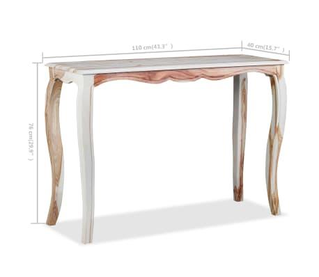 vidaXL Konsolinis staliuk., rausv. dalbergijos med., 110x40x76cm[9/9]