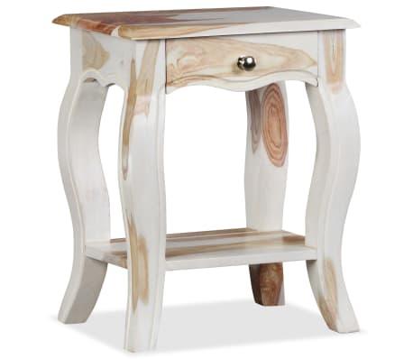 vidaXL Noptieră din lemn masiv de sheesham, 40 x 30 x 50 cm[3/10]