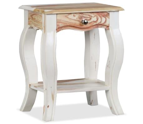 vidaXL Noptieră din lemn masiv de sheesham, 40 x 30 x 50 cm[4/10]