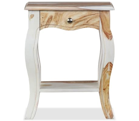 vidaXL Noptieră din lemn masiv de sheesham, 40 x 30 x 50 cm[5/10]