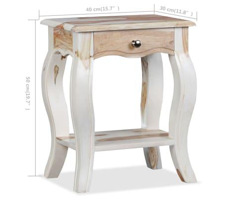 vidaXL Noptieră din lemn masiv de sheesham, 40 x 30 x 50 cm[10/10]