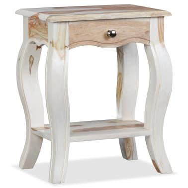 vidaXL Noptieră din lemn masiv de sheesham, 40 x 30 x 50 cm[2/10]