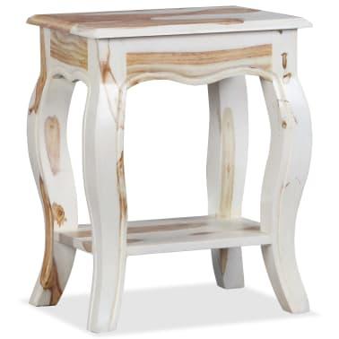 Vidaxl mesita de noche de madera maciza de sheesham for Mesitas de noche 30 cm
