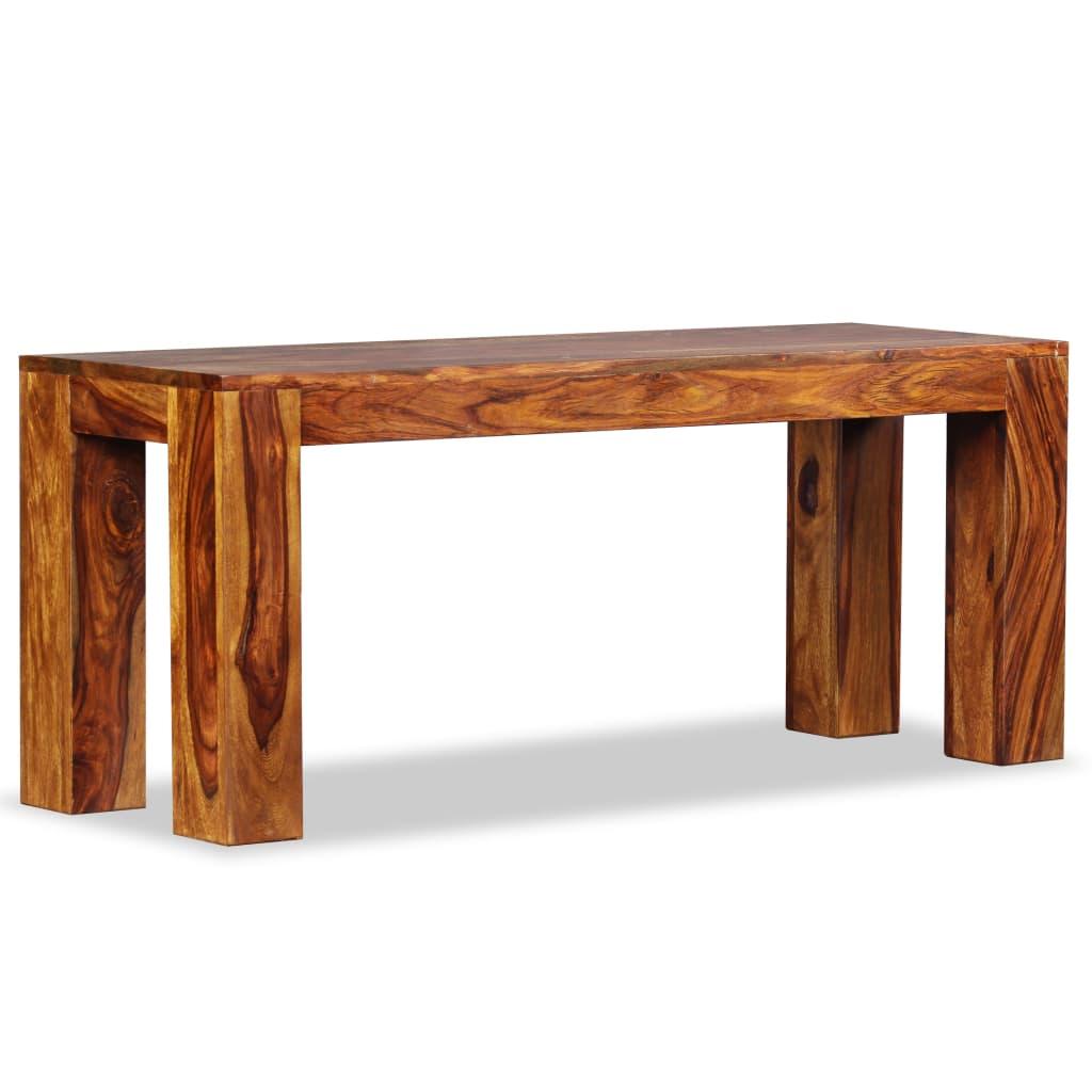 vidaXL Lavice, masivní sheeshamové dřevo, 110x35x45 cm