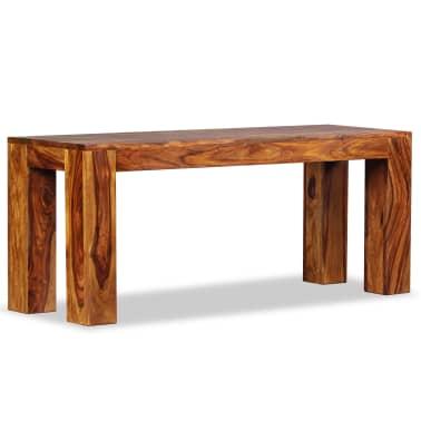 vidaXL Suoliukas, masyvi rausvoji dalbergijos mediena, 110x35x45cm[1/10]