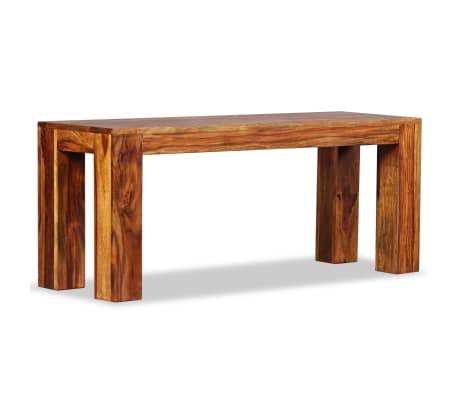 vidaXL Suoliukas, masyvi rausvoji dalbergijos mediena, 110x35x45cm[2/10]