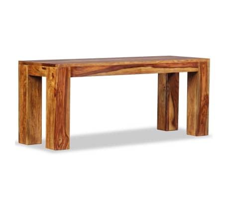vidaXL Suoliukas, masyvi rausvoji dalbergijos mediena, 110x35x45cm[4/10]