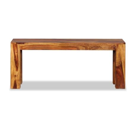 vidaXL Suoliukas, masyvi rausvoji dalbergijos mediena, 110x35x45cm[6/10]
