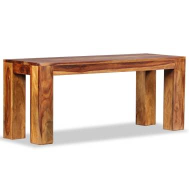vidaXL Suoliukas, masyvi rausvoji dalbergijos mediena, 110x35x45cm[3/10]